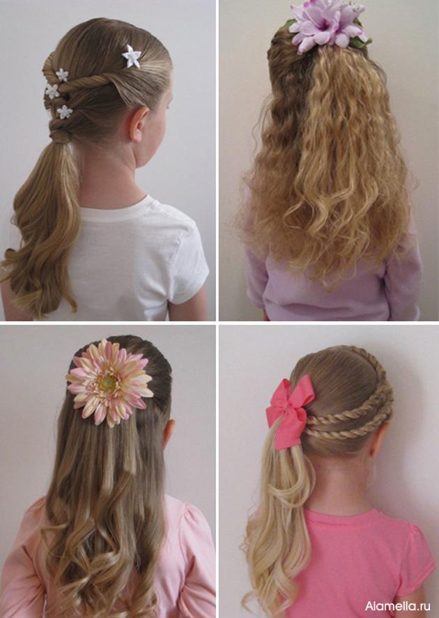 Прически для девочки своими руками на длинные волосы 62