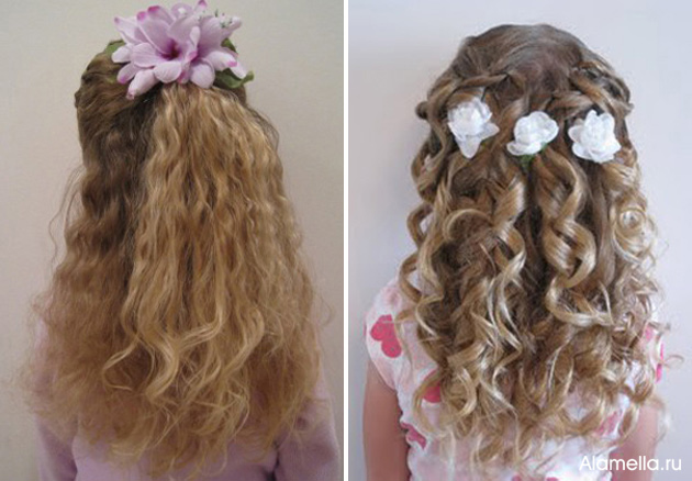 Прически для коротких волос для девочек с кудрями