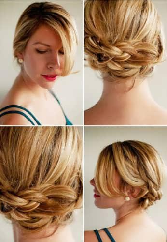 Описание прически на волосы средней длины фото