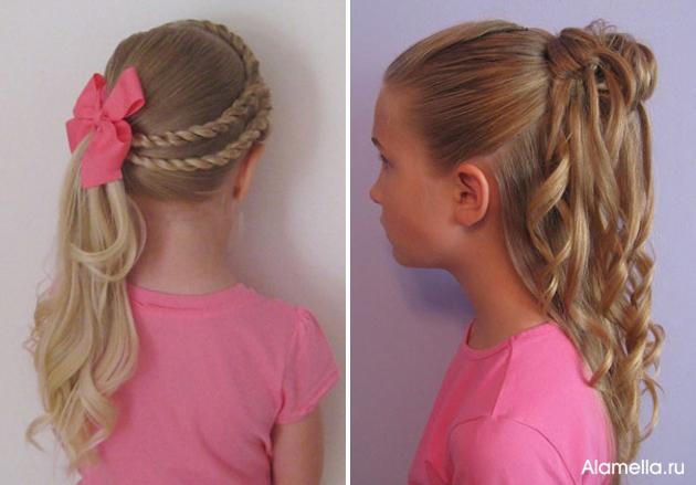 Причёска для девочки легкие 20